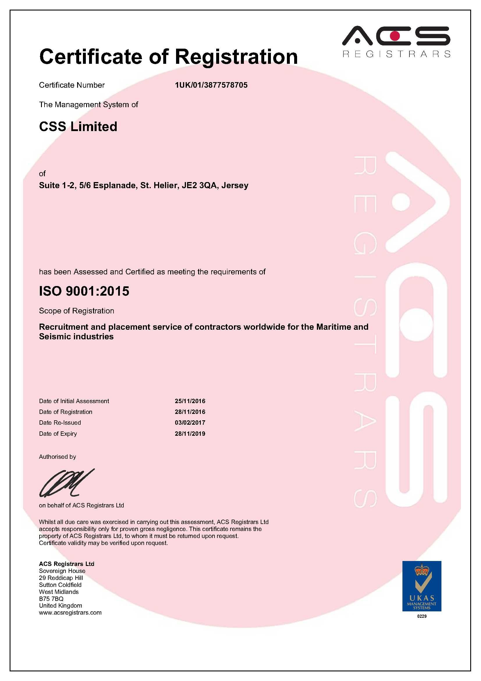 CSS Limited (was Channel Ship) Name change 9001 Cert 06.02.17.jpg