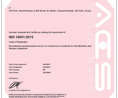 CSS attain 2 more ISO standards | Channel Ship Services
