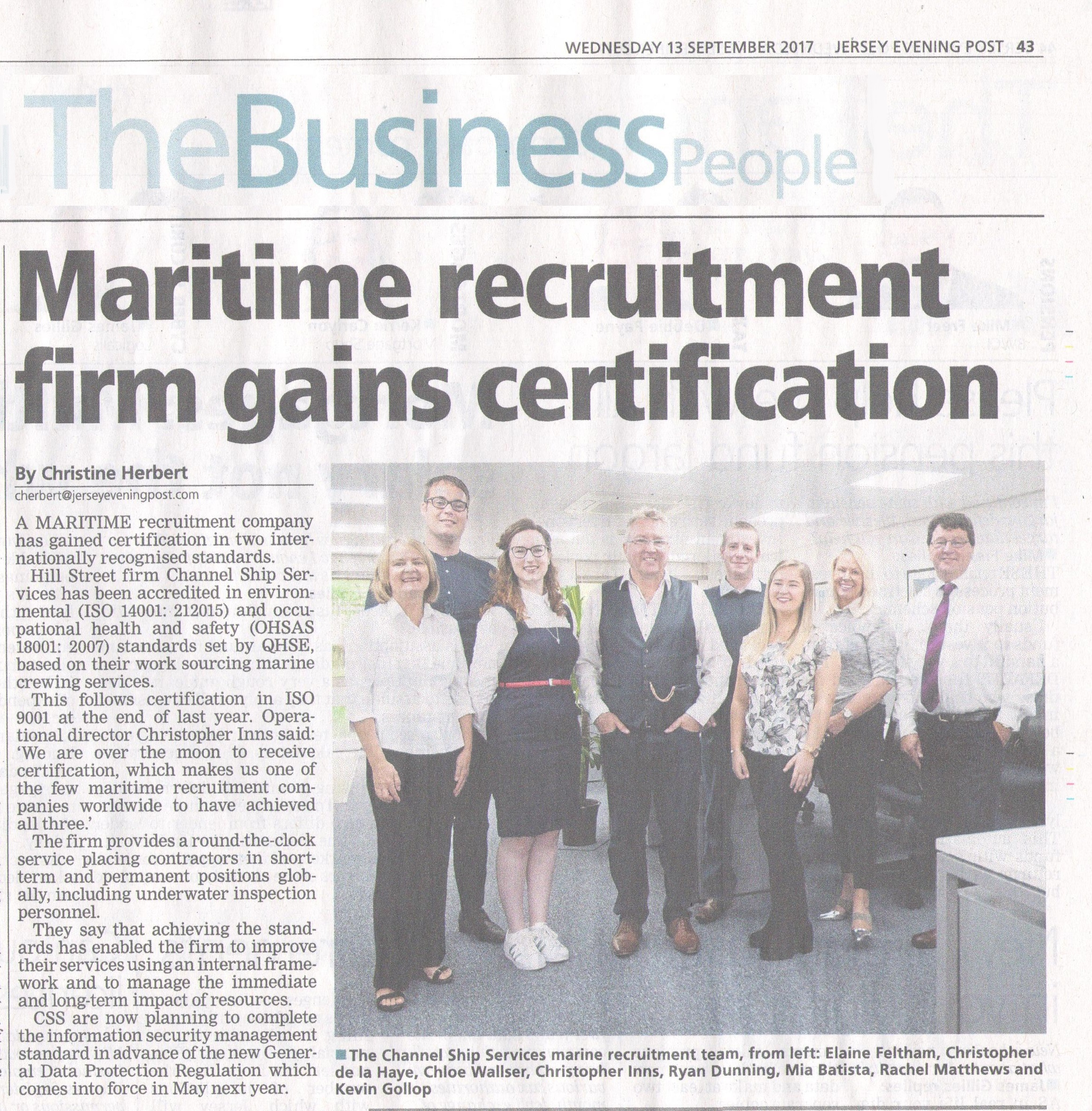 Certified Maritime Offshore Recruitment Uk Agency Channel Ship